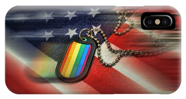 Gay Pride Flag iPhone Case - Freedom For All by Jes Fritze