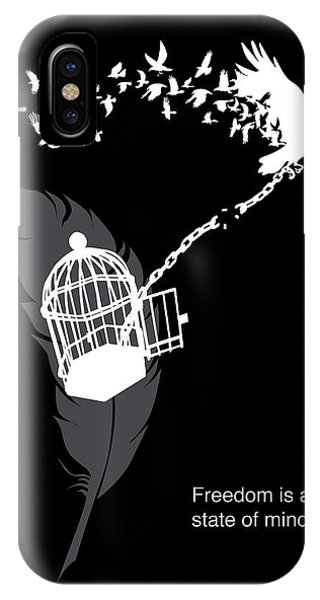 Crow iPhone Case - Freedom Is A State Of Mind by Sassan Filsoof