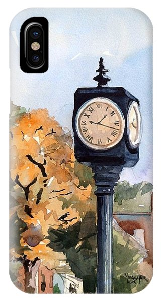 Courthouse iPhone Case - Freedom Park Clock by Spencer Meagher