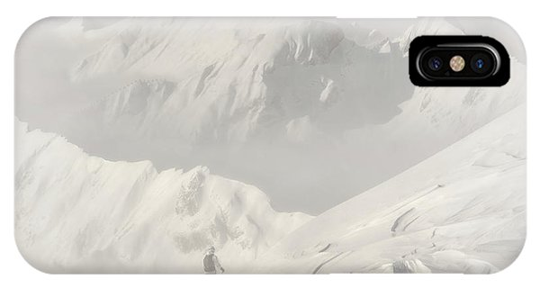 White Mountains iPhone Case - Freeride by Margit Lisa Roeder