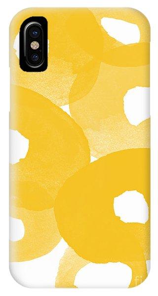 Yellow Flowers iPhone Case - Freesia Splash by Linda Woods