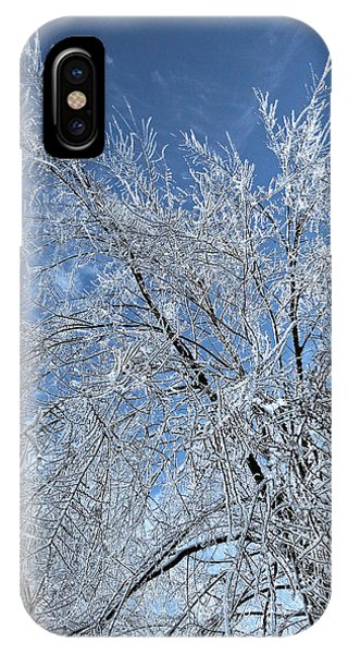 Sonne iPhone Case - Freezing Rain ... by Juergen Weiss