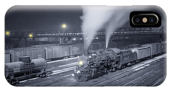 Trucking iPhone Case - Freight Train About To Leave The Atchison Circa 1943 by Aged Pixel