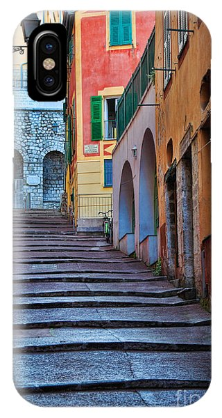 French Riviera iPhone Case - French Alley by Inge Johnsson