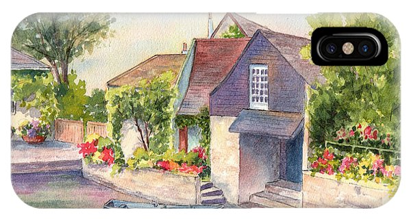 French Boathouse  Azay Le Rideau IPhone Case