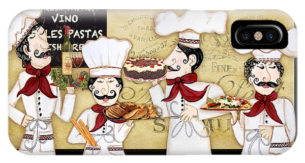 Vino iPhone Case - French Chefs-bon Appetit by Jean Plout