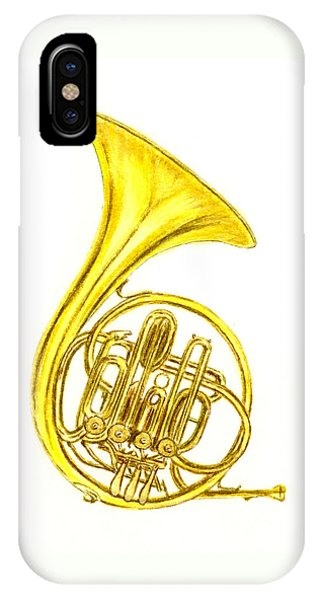 Horn iPhone Case - French Horn by Michael Vigliotti