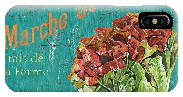 Lettuce iPhone Case - French Market Sign 3 by Debbie DeWitt