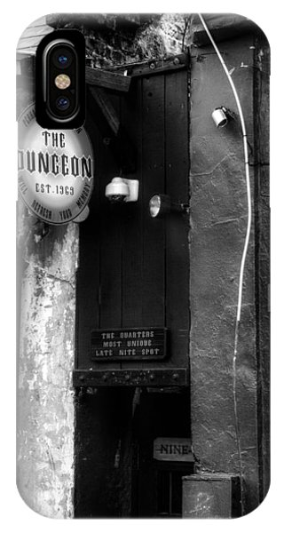 French Quarter Dungeon In Black And White IPhone Case