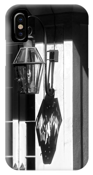 French Quarter Lamp Shadow IPhone Case