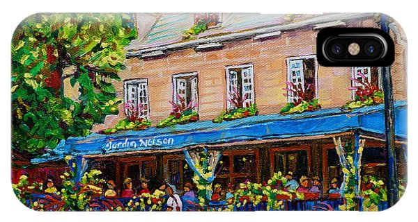 French Restaurant Jardin Nelson Paris Style Bistro Place Jacques Cartier Terrace Garden C Spandau   IPhone Case