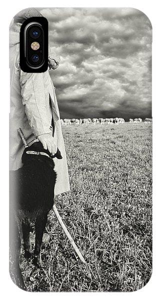 French Shepherd - B W IPhone Case