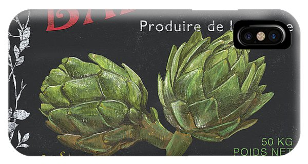 Organic Foods iPhone Case - French Veggie Labels 1 by Debbie DeWitt