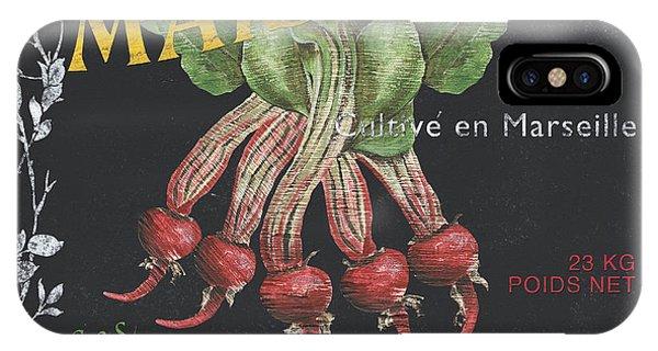 Market iPhone Case - French Veggie Labels 2 by Debbie DeWitt