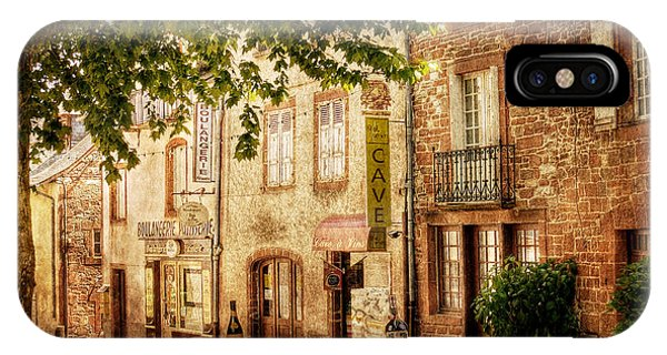 IPhone Case featuring the photograph French Village Street / Meyssac by Barry O Carroll