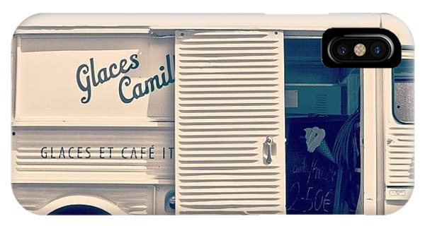 Vintage iPhone Case - #frenchicecreamtruck #france #icecream by Georgia Fowler