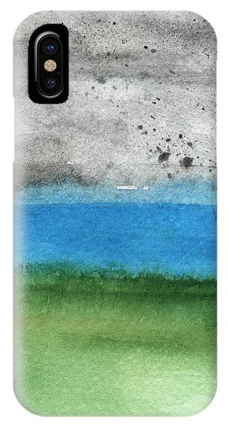 Grey Skies iPhone Case - Fresh Air- Landscape Painting by Linda Woods