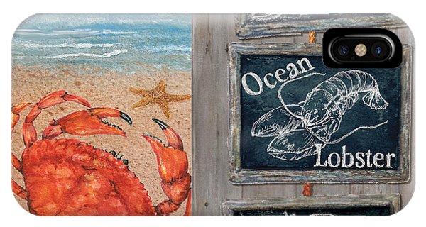 Fresh Catch Seaside Blackboard Signs IPhone Case