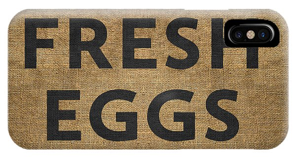 IPhone Case featuring the digital art Fresh Eggs by Nancy Ingersoll