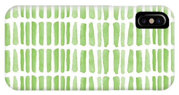 Grass iPhone Case - Fresh Grass- Abstract Pattern Painting by Linda Woods