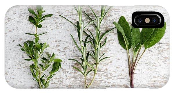Mixed iPhone Case - Fresh Herbs by Nailia Schwarz