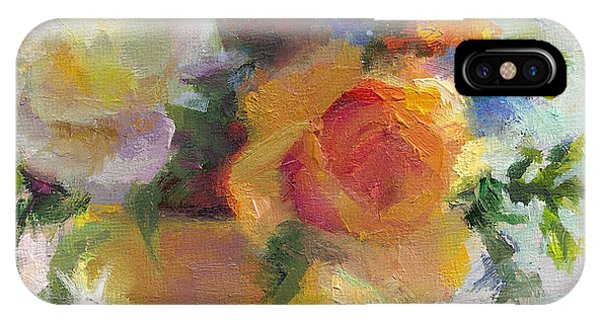 Fresh - Roses In Teacup IPhone Case