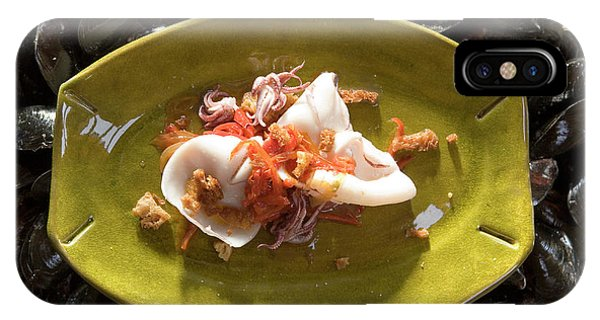 Squid iPhone Case - Fresh Squid And Octopus Dish by Peter Menzel/science Photo Library