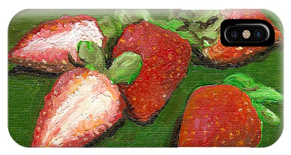iPhone Case - Fresh Strawberries Painting by Arch