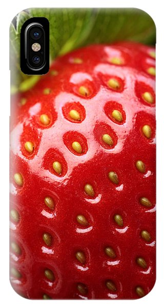 Fresh Strawberry Close-up IPhone Case