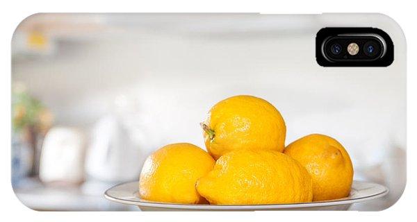 Lemon iPhone Case - Freshly Picked Lemons by Amanda Elwell