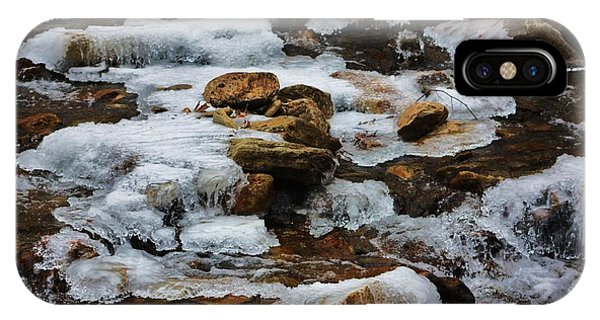 Catoctin Mountain Park iPhone Case - freeze frame of Trout Run by Chuck  Hicks