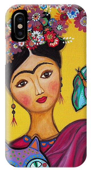 Frida Kahlo And Her Cat IPhone Case