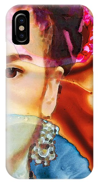 Famous Artist iPhone Case - Frida Kahlo Art - Seeing Color by Sharon Cummings