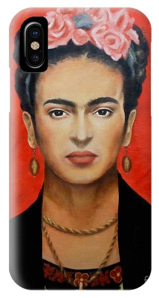 Necklace iPhone Case - Frida Kahlo by Yelena Day