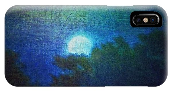 Impressionism iPhone Case - Friday 6/13/14 Full Moon - The Honey by Paul Cutright