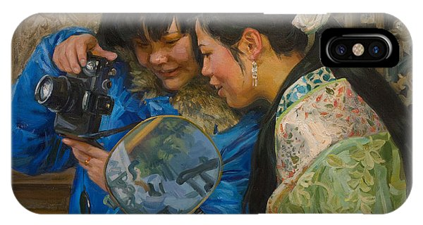 Chinese iPhone Case - Friends by Victoria Kharchenko