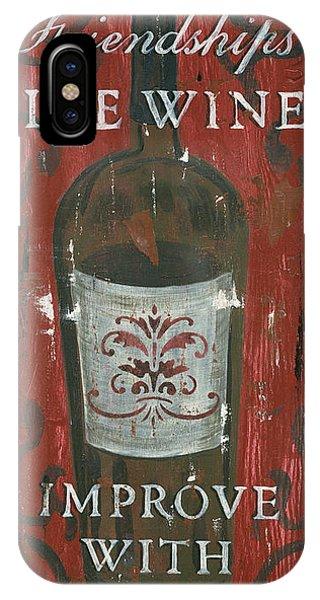 Verse iPhone Case - Friendships Like Wine by Debbie DeWitt
