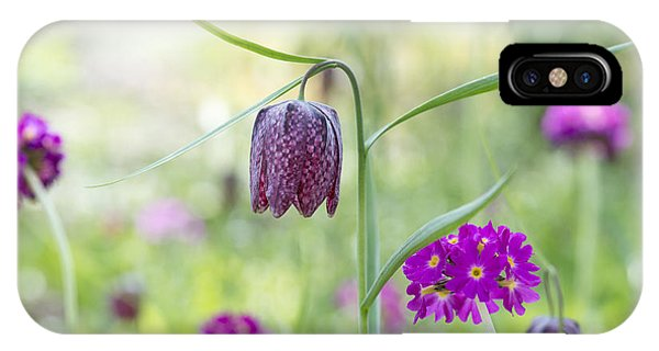 Fritillary And Primula  Phone Case by Tim Gainey