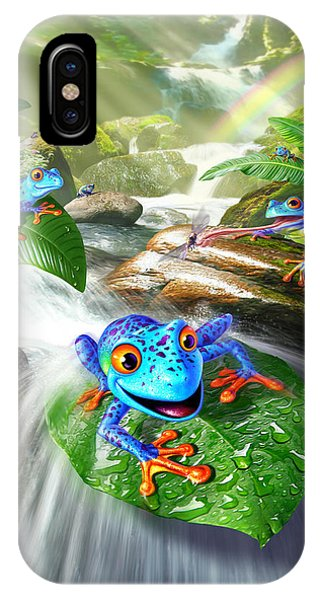 Frogs iPhone Case - Frog Capades by Jerry LoFaro