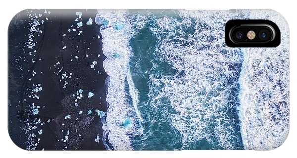 Black Sand iPhone Case - From Above Iv by Antonio Carrillo Lopez