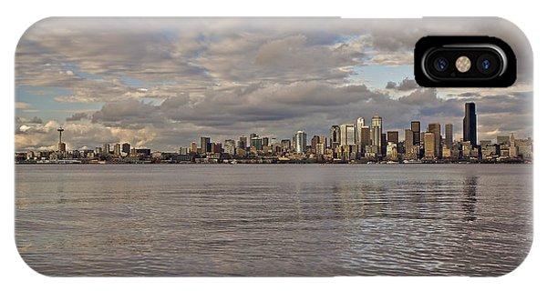 from Alki Beach Seattle skyline IPhone Case