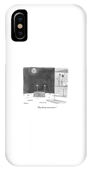 From An Apartment Window On The Moon IPhone Case