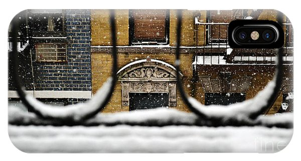 From My Fire Escape - Arches In The Snow IPhone Case
