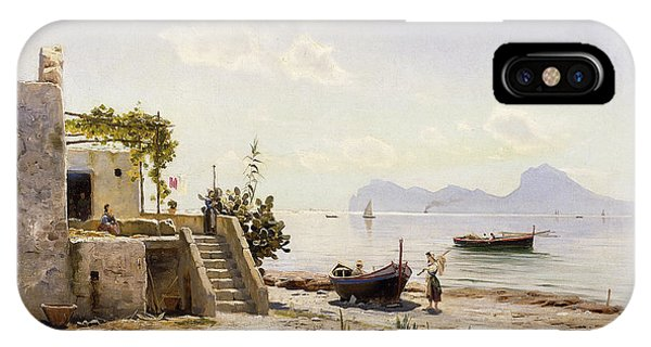 1880s iPhone Case - From Sorrento Towards Capri by Peder Monsted