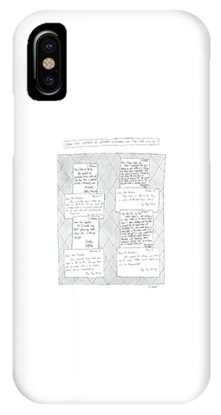 From The Letters Of Jeffrey Flanders And Tip-top IPhone Case