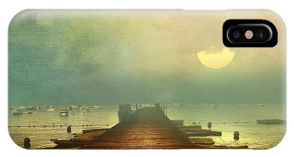 From The Moon To The Mist IPhone Case