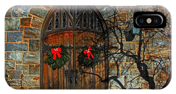 Front Door To Baldwin Memorial United Methodis IPhone Case