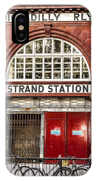 Front To The Disused Strand Underground Station On The Piccadill IPhone Case