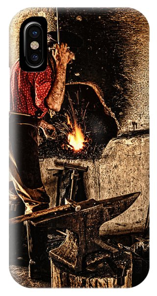 Frontier Blacksmith At The Forge IPhone Case