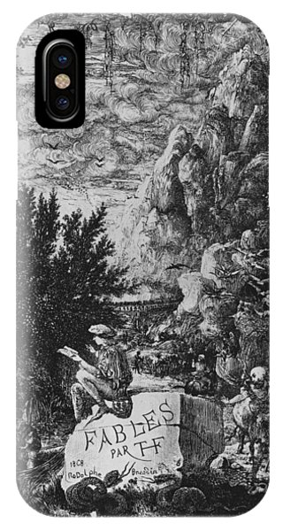 Frontispiece Illustration From Fables By Hippolyte De Thierry-faletans IPhone Case